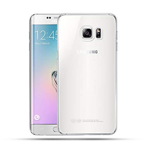 NEW'C Cover Compatibile con Samsung Galaxy S6 Edge Plus, Custodia Gel Trasparente Morbida Silicone Sottile TPU [Ultra Leggera e Chiaro]