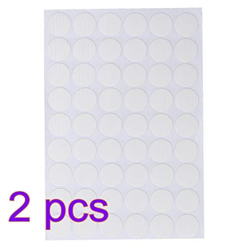 Yardwe 2 hojas de 54pcs Tapas de tapa de tornillo autoadhesivas Stick on Tapa de orificio de tornillo cubre pegatinas blancas