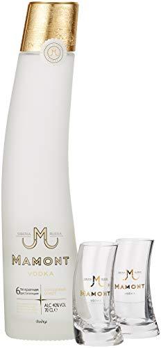 Mamont Wodka mit Geschenkverpackung mit 2 Gläsern (1 x 0.7 l)