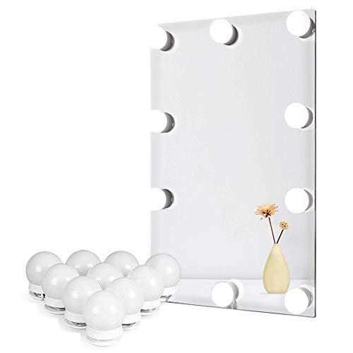 Lampor för gör-det-själv Hollywood-spegel, sminkbelysning för sminkbord Industriell 10 Bulbs