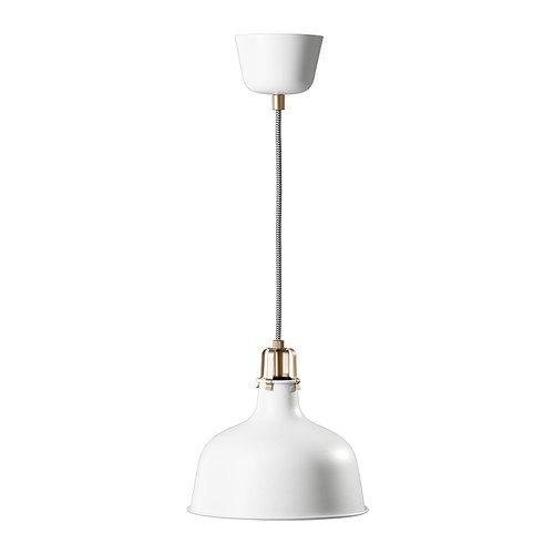 Ikea RANARP - lámpara Colgante, de Color Blanquecino - 23 cm