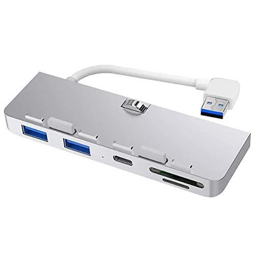 Pinzheng USB C HUB, Mini 3 IN-1 Portable 3 USB 3.0 5GBPS SD/TF Tipo-C Adaptador de Carga rápida y reproducción, para MacBook Pro XPS