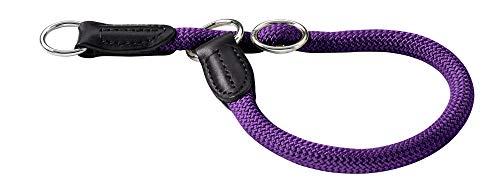 HUNTER Freestyle Dressurhalsung, Hundehalsband, Zugstopper, robust, wetterfest, 50 (M-L), violett