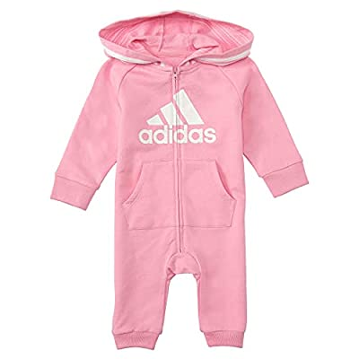 adidas Girls and Baby Boys' Coverall, Light Pink, 6 Months by adidas