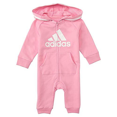 adidas Girls and Baby Boys' Coverall, Light Pink, 12 Months