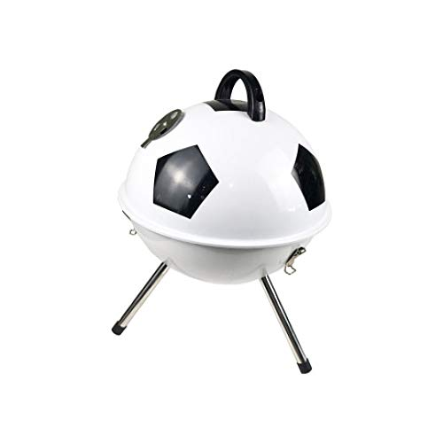 SUNHAO Picknickgrills Grill-Rack-Runde im Freien Fußball Grillbox 4-5 Personen Holzkohlegrill Rack tragbarer Grill
