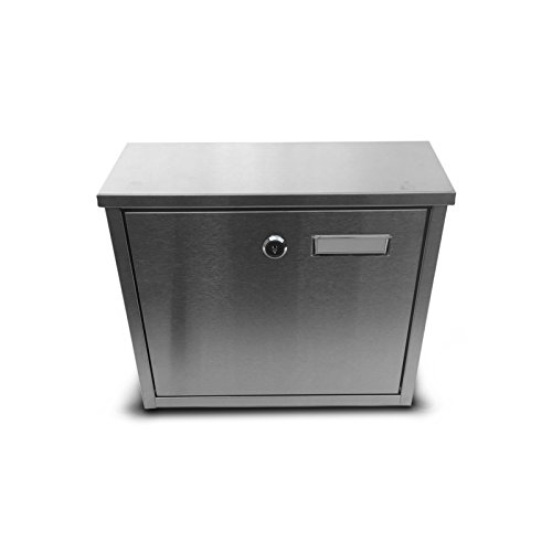 FURNISHED Galvanized Steel Mailbox, Silver, Lockable Outdoor...