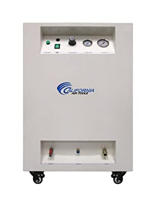California Air Tools 8010DSPC Ultra Quiet and Oil-Free 1.0 HP 8.0 Gallon Steel Tank Air Compressor with Air Dryer in Sound Proof Cabinet by California Air Tools