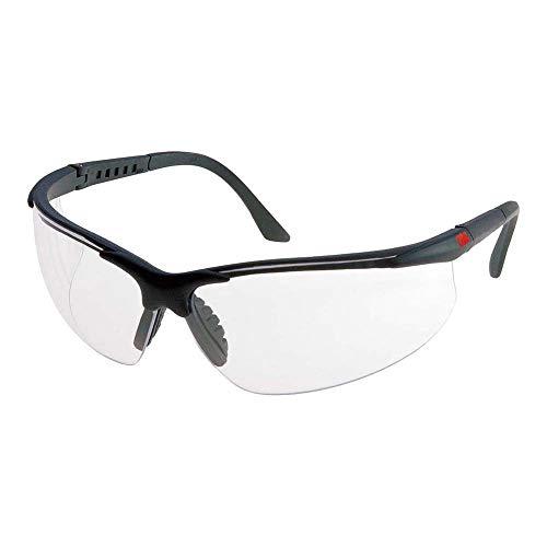 3M Schutzbrille 2750, AS/AF/UV , PC, klare Gläser, einstellbare Bügellänge, weicher Nasensteg