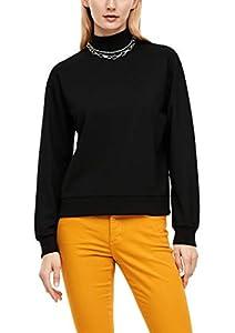 s.Oliver Damen Sweatshirt aus Interlockjersey Black 38