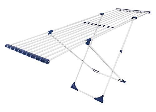 CASASI XL Wäscheständer Casa Flex X-Legs - ausziehbar mit Rollen und extra hoch für große Wäschestücke