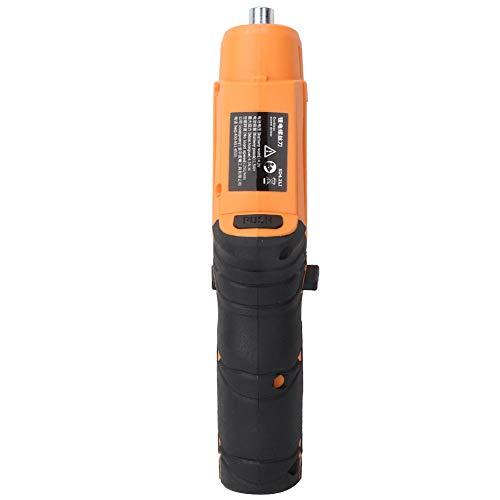 Electric Cordless Screwdriver, 4.5N.M Force 250 Rpm No-Load Speed With Led Light Cordless Screwdriver, Handheld Rotating for Women Men