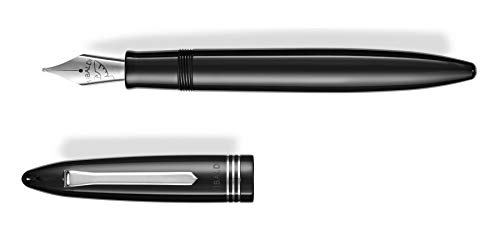 Penna stilografica Tibaldi Bononia black F