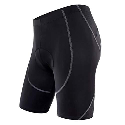 Sportneer Radlerhose Herren, Fahrradhose mit Sitzpolster 4D, schnelltrockende, elastische Radhose – Verbesserte Elastizität und Luftdurchlässigkeit (M)