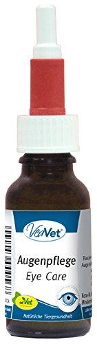 cdVet Naturprodukte VeaVet Augenpflege 20 ml - Hund, Katze, Pferde - Pflegemittel für die Augen - Reinigung- schonend + effektiv - Augenprobleme + Bindehautprobleme - Wohlbefinden - Rosenwasser -