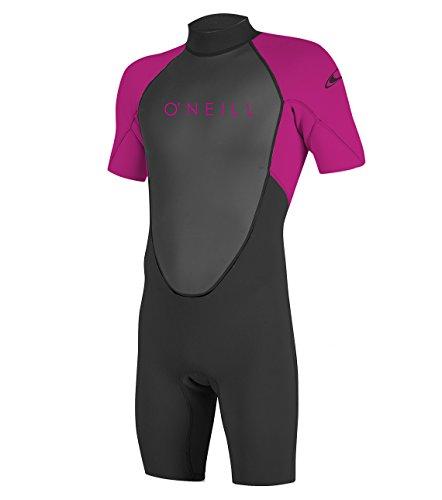 O'Neill Wetsuits Reactor II Back Zip Spring Combinaison de plongée Fille, Baie, 38
