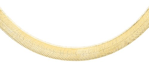 Carissima Gold Women's 9 ct Yellow Gold 4.9 mm Herringbone Chain Necklace of Length 46 cm/18 Inch