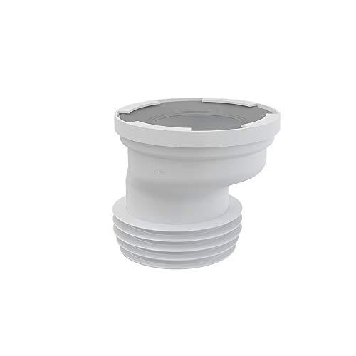 AlcaPlast A991 exzentrischer WC Anschlußstutzen Anschluss Abfluss Rohr Versatz Stutzen ø80-110, Ausführung:20mm Versatz