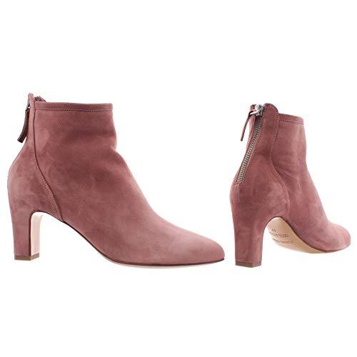 POMME D'OR Damen Schuhe Stiefeletten 7058 Wildleder Dark Pink Dunkelrosa