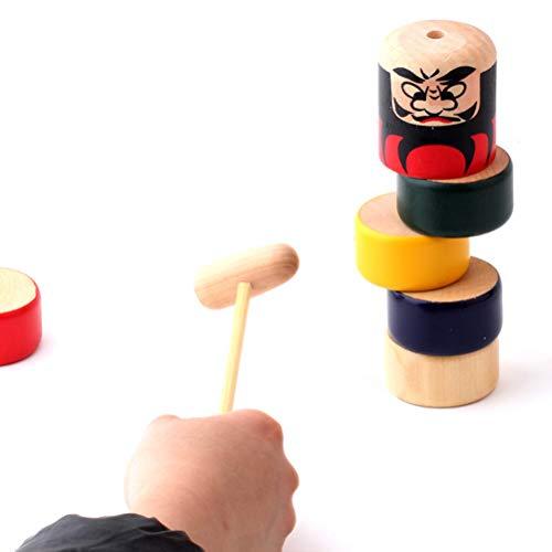Daxoon Daruma Puppe Unsterbliche Little Man Holzspielzeug Zaubertricks Lustige Spielzeug Geschenk für Kinder