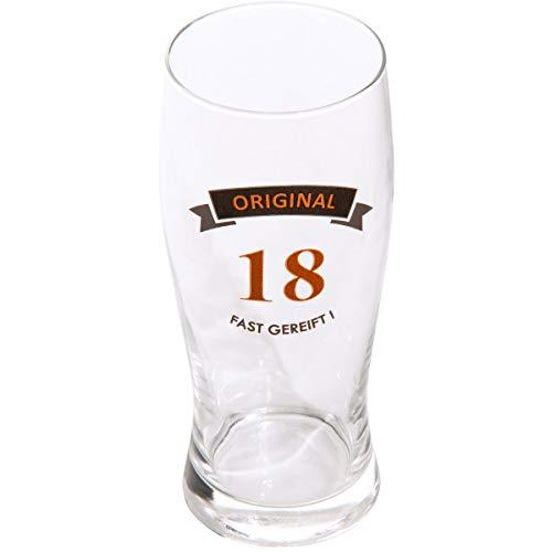 Bierglas met spreuk, premium kwaliteit, 100% emotioneel, bierglas met spreuk, bijna gerijpd, bierglas, verjaardag, bierglas met geschenkdoos, verjaardagscadeau, cadeau voor mannen, biercadeaus