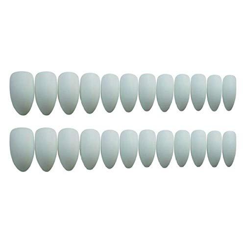 L'Europe et les États-Unis Beam Matte Full Cover Fake press on nail Fashion Light Grey Solid Color Long nail tips