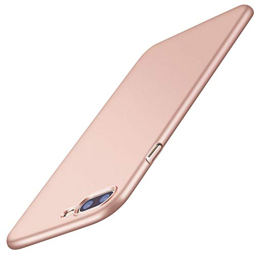TORRAS Slim Fit iPhone 8 Plus Case/iPhone 7 Plus Case, Hard Plastic PC Ultra Thin Mobile Phone Cover Case with Matte Finish Coating Grip Compatible with iPhone 7 Plus / 8 Plus, Rose Gold