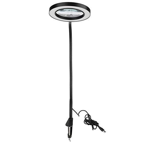 Lámpara de Lupa, lámpara de Aumento de Temperatura de 3 Colores, con Clip Giratorio Ajustable para Coser/Pintar/Leer Manualidades de Bordado y Banco de Trabajo