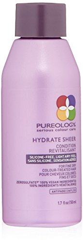 Pureology | Hydrate Sheer Moisturizing Conditioner | For Fine, Color Treated Hair | Lightweight | Sulfate-Free | Silicone-Free | Vegan | 81.7 oz.