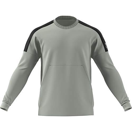 adidas Herren ID Closed Hem Stadium Crew Langarm Sweatshirt, Ash Silver, XL