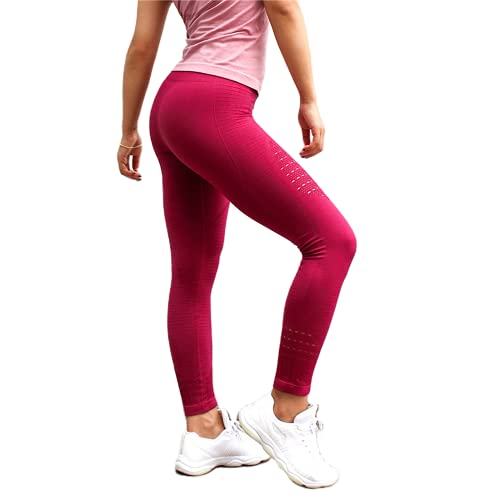 QTJY Energy Leggings sin Costuras Pantalones de Yoga de Cintura Alta para Mujer Leggings Deportivos súper elásticos Gimnasio Celulitis Pantalones para Correr J S