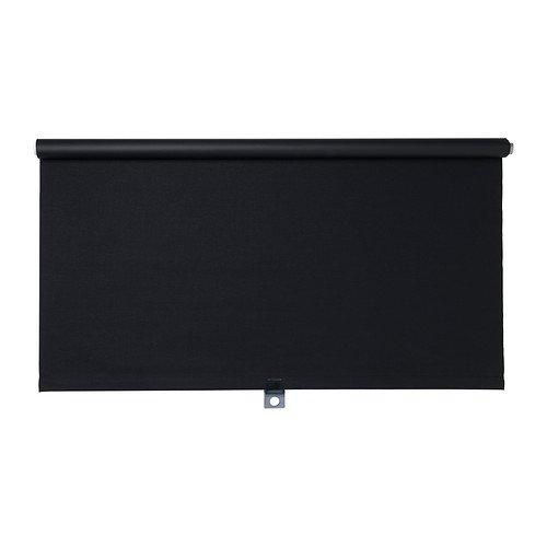 IKEA TUPPLUR - Verdunkelungsrollo schwarz - 80x195cm