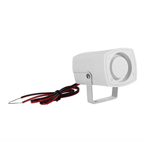 Alarmsysteem, bekabeld, elektronisch, sirene draadloos, mini-hoorn, voor veiligheidssysteem, voor huis, met houder 110 dB DC 12 V