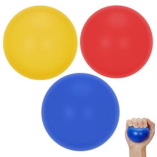 FYY Balle Anti-Stress,Balle reeducation pour Enfants/Adolescents/Adultes (3 Packs), Jouet à Compression Haute élasticité Aide à soulager Le Stress, thérapie de la Main, Exercice de Force des Doigts