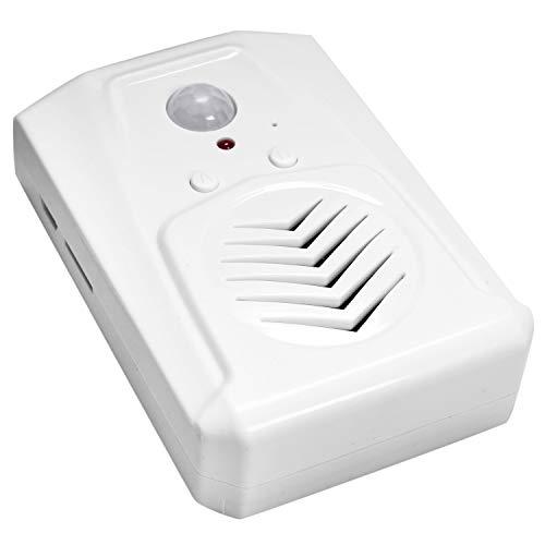 Quata Sensor de movimiento para puerta, timbre MP3, infrarrojos, para puerta, timbre inalámbrico, sensor de movimiento PIR, mensaje de bienvenida, timbre de entrada y alarma