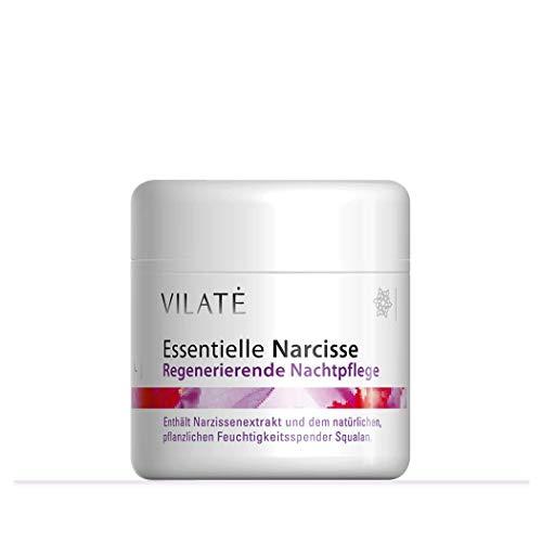 Anti Aging Narcisse Nachtcreme für Frauen reduziert Falten über Nacht, Nachtpflegecreme regeneriert die Haut und spendet Feuchtigkeit – von Vilate