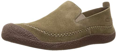 KEEN Herren Howser Suede Slip-ON-M Slipper, Timberwolf/Chestnut, 42.5 EU