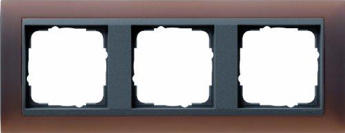Gira Rahmen 021313 3fach ZR ant Event Opak DKL.braun