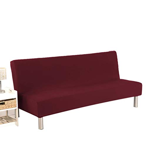 WEQQ Funda de sofá Cama Plegable Todo Incluido Cojín de sofá cómodo Universal (Rojo Vino)