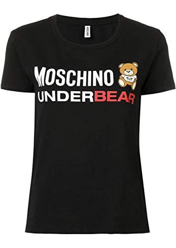 Moschino Underwear A 1904 9003 T-Shirt Donna Nero S