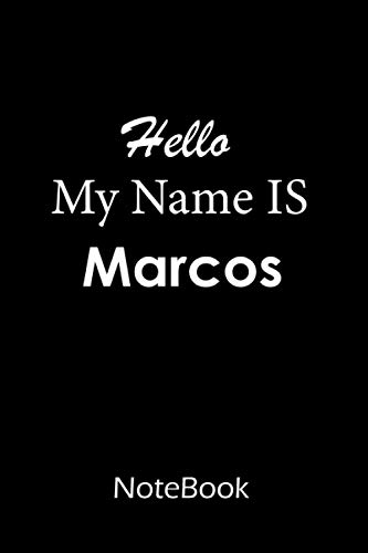 Marcos : Notebook   journal : This NoteBook is For Marcos: lined paper notebook 6*9, 110 pages.