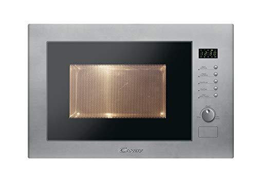 Candy MIC25GDFX Microondas integrable con grill sin marco, plato giratorio 31,5 cm, 10 programas, 900 W-1000 W, 1450 W, 25 litros, acero inoxidable antihuellas