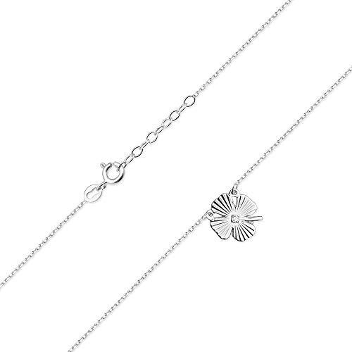 Collar de diamantes o cadena de oro para mujer Zlocisto Muestra585 , con diamantes talla brillante 0,005ct H/Si