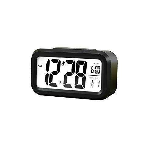 HUA-Wekker Smart Digitale Alarm Klok met Temperatuur Display, Groot Scherm Elektronische Alarm Klok Zonder Straling voor Kinderen