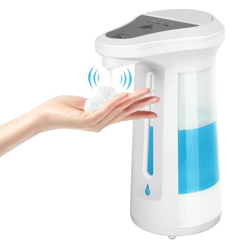 PowerDoF Seifenspender Automatisch, Berührungsloser Elektrischer Händedesinfektion Spender, Seifenspender mit Automatischem Sensor, Geeignet für Badezimmer, Küchen, öffentliche Plätze, Mehr