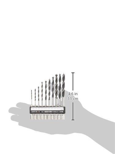 高儀『EARTHMAN木工・樹脂兼用六角軸ドリル10本組』