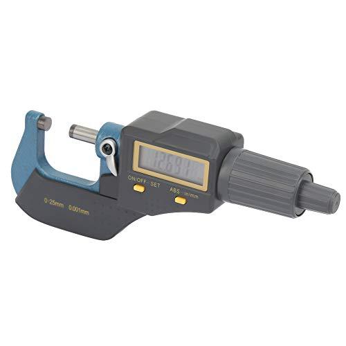 Micrómetro electrónico, micrómetro exterior digital de retención de datos, calibre de espesor de 0,001 mm y calibre de diámetro métrico/pulgada para bricolaje/hogar industrial