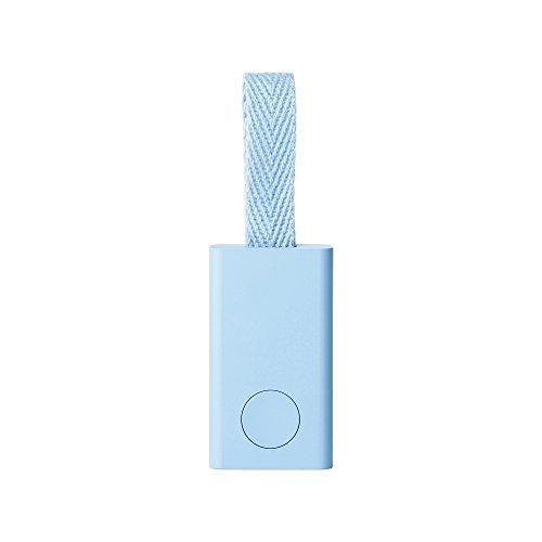 QrioSmartTag(キュリオスマートタグ)ライトブルー探し物発見機忘れ物防止スマホも探せるキーファインダースマホカメラのシャッター機能付きQ-ST1