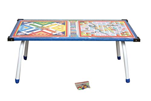 SUNRISE Ludo Game Printed Multipurpose & Foldable Bed Table, Laptop Table, Study Table for Kids & Adults.