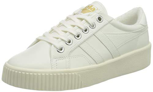 Gola Damen Baseline Mark Cox Leather Sneaker, Off White/Off White, 37 EU